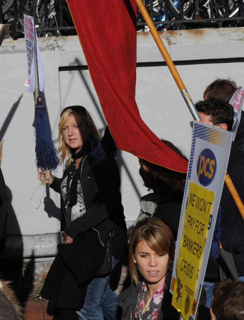 Susi Doherty of Vervate on a demonstration in 2010