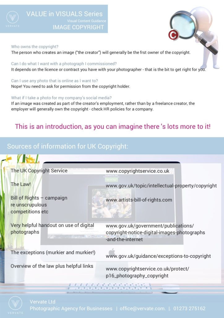 screenshot of the leaflet about copyright